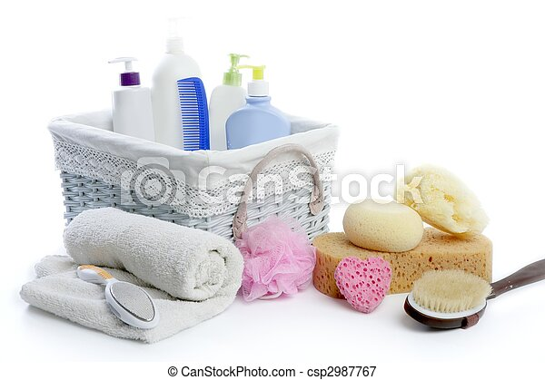 stock de fotos ba o art culos de tocador cesta ducha