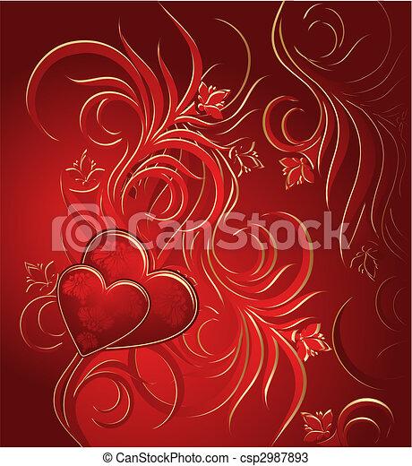 Valentines background - csp2987893