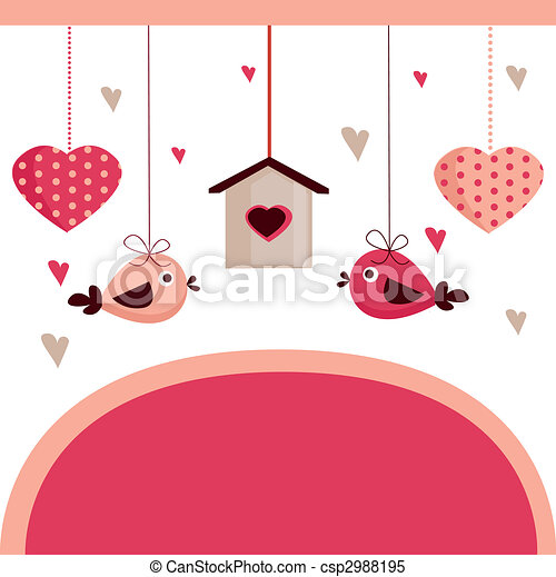 Valentine\'s day card with place for your text,  - csp2988195