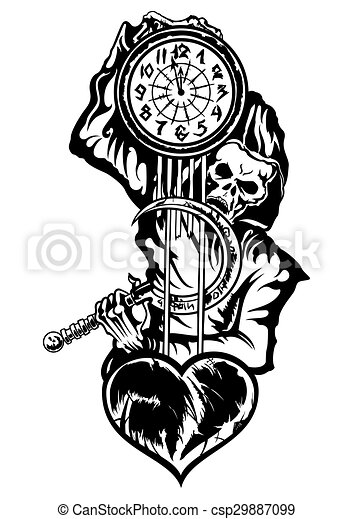 Stock Illustration Of Grim Reaper Or The Death With A