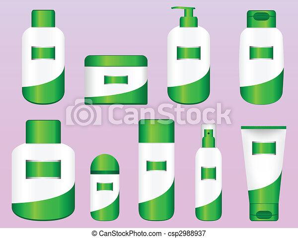 Set of 9 Bio Cosmetic Bottles - csp2988937