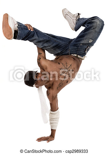 hip-hop dancer during his practice session - csp2989333