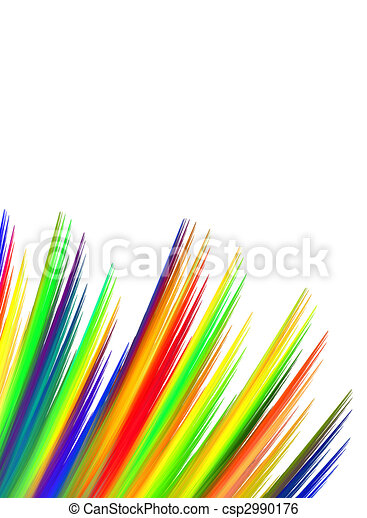 Vibrant Fibers with Copy Space over white background - csp2990176