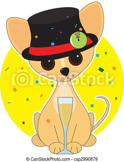 Chihuahua New Year - csp2990879