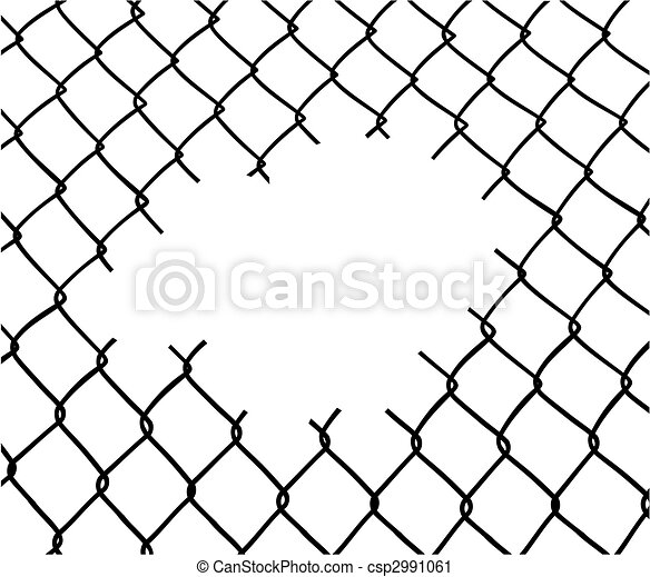 Cut wire fence - csp2991061