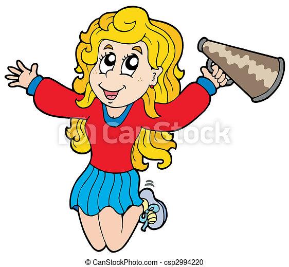 Cartoon cheerleader - csp2994220