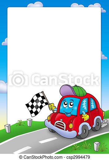 Frame with car race starter - csp2994479