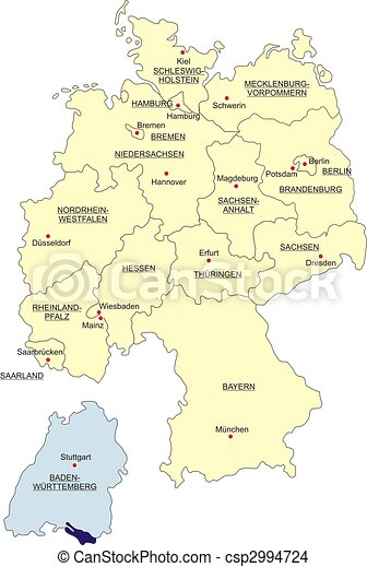 Map of Germany - csp2994724