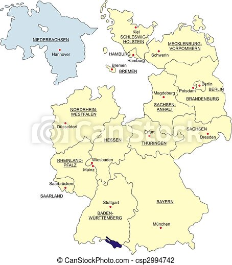 Map of Germany - csp2994742