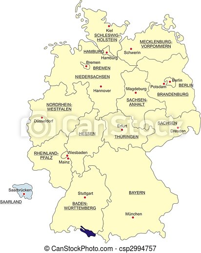 Map of Germany - csp2994757
