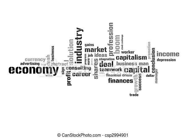 Illustration with economic terms - csp2994901