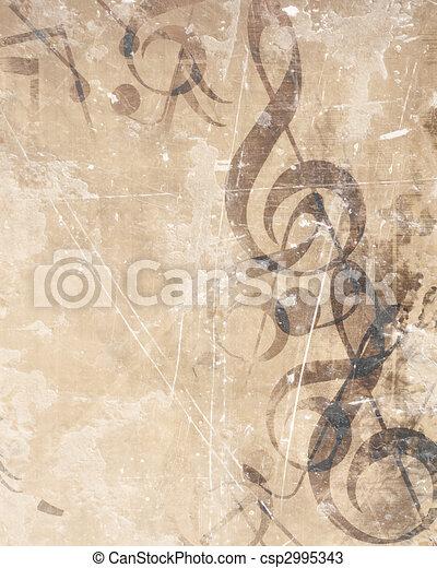 Old music sheet - csp2995343