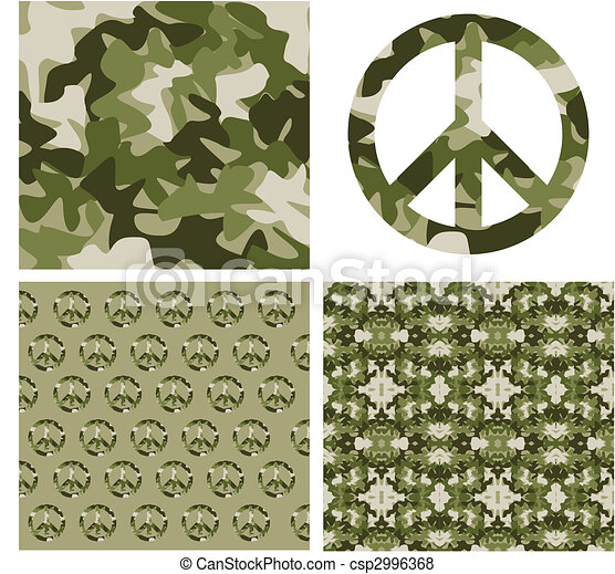 Camouflaged peace patchs - csp2996368