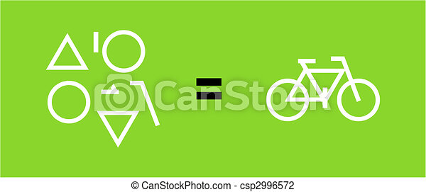 Bicycle as a result of geometric shapes - csp2996572