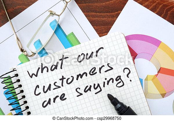 nostro, cosa, clienti, detto - csp29968750