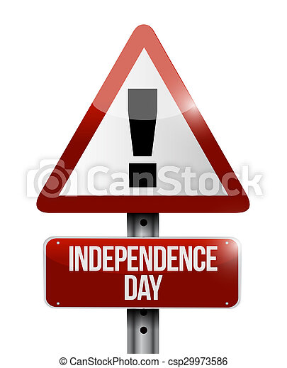 independence day attention sign illustration design icon graphic