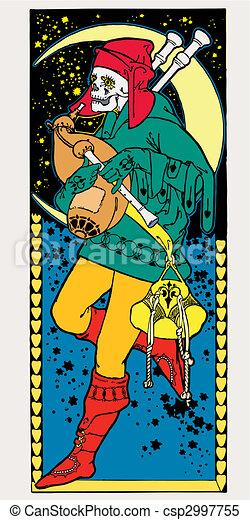 Dead vector illustration. Art Deco. Art Nouveau. - csp2997755