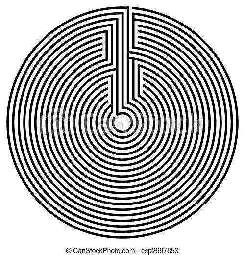 Black round labyrinth - csp2997853