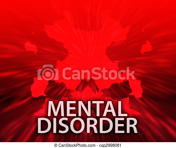 Mental disorder inkblot background - csp2998081
