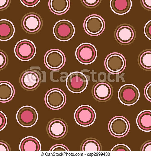 Brown and Pink Polka Dots - csp2999430