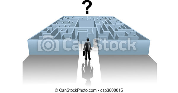 Person in Internet Maze search for business solution - csp3000015