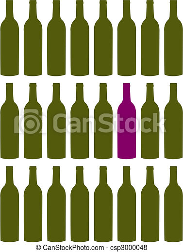 Wine bottles set - csp3000048