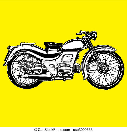 moto motocycle retro vintage classic - csp3000588