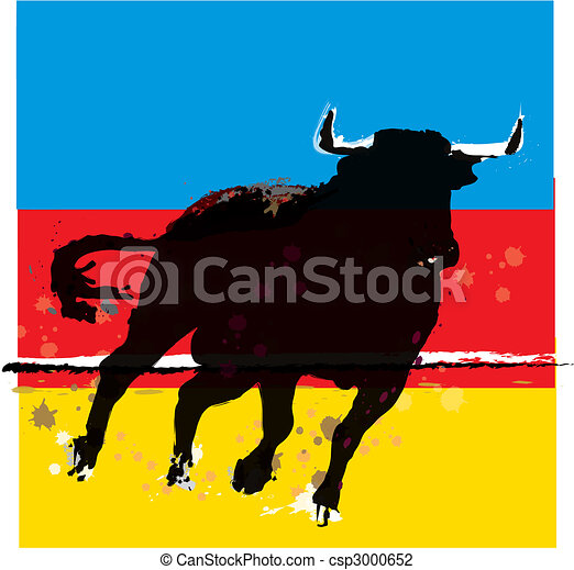 Bull Vector Illustration - csp3000652