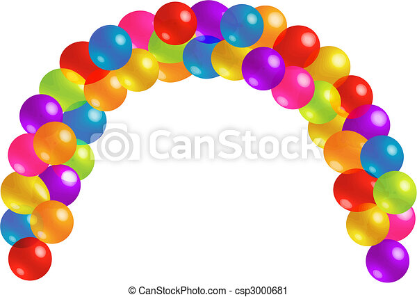 Beautiful Balloon Arc with Lots of Transparency - csp3000681