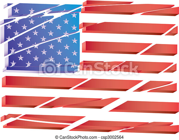 Vector USA flag - csp3002564
