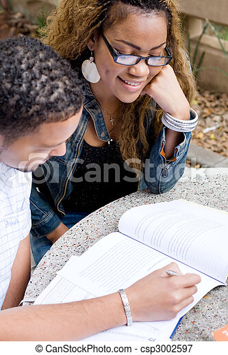 college students studying - csp3002597