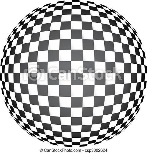 3D chess op art - csp3002624