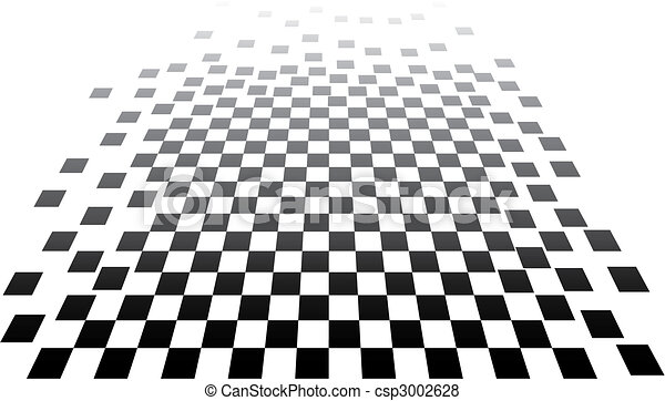 3D chess op art - csp3002628