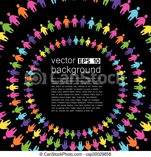 background template with colorful people - csp30029858