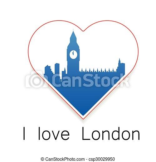 i love London template - csp30029950