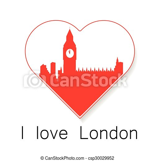 i love London template - csp30029952