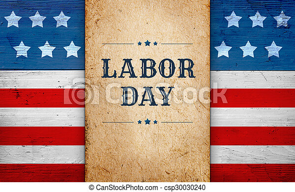 Labor Day background, patriotic theme