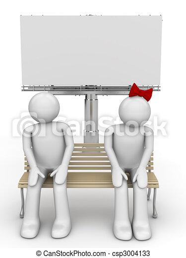 dessins de timide homme femme banc copyspace amour valentin csp3004133 recherchez. Black Bedroom Furniture Sets. Home Design Ideas
