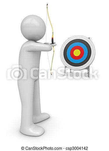 Archer aiming target - csp3004142