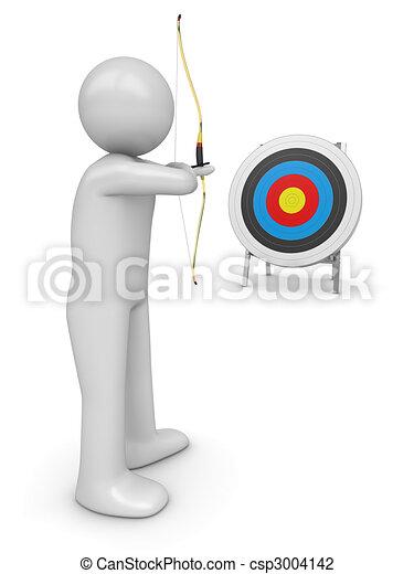 Archer aiming target - csp3004142