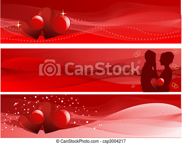 Valentine's Day banners - csp3004217
