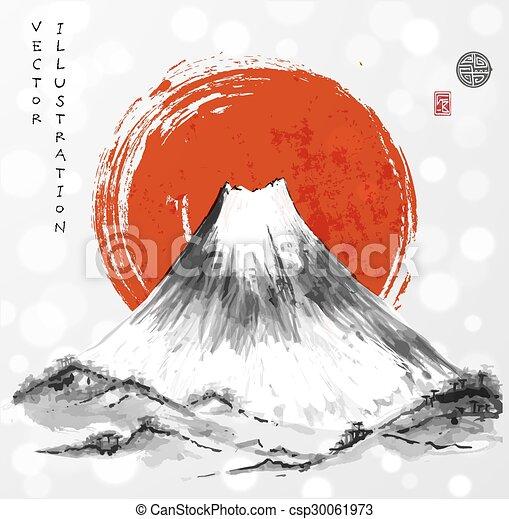 clip art mountains japan cliparts