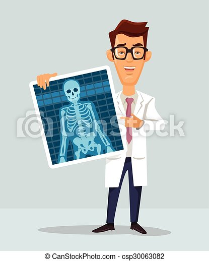 Doctor with x-ray - csp30063082