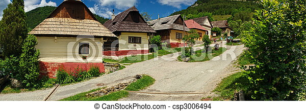 Vlkolinec village, Slovakia (UNESCO) - csp3006494