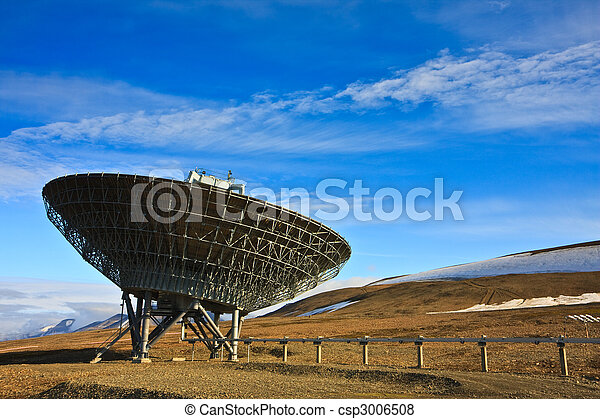 Directional Radio Antenna On Hillside - csp3006508