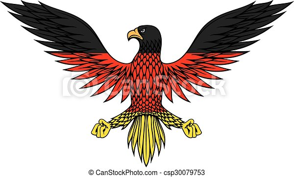 Clipart Vector of German eagle bird in flag colors - Stylized ...
