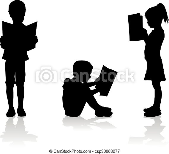 Children reading the book.