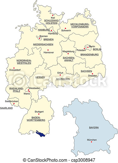 Map of Germany - csp3008947