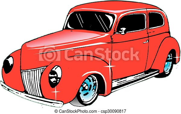 Vectors of Hot Rod T-Bucket - vector, Old hot rod nostalgia, 50's ...