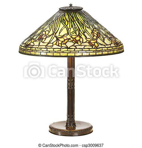 daffodil glass large table lamp - csp3009637